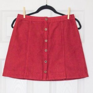 ❤️3 for 60❤️ Like new red hollister mini skirt
